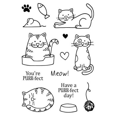 Jane's Doodles Clear Stamps - Cats