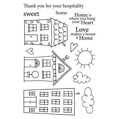 Jane's Doodles Clear Stamps - Home Sweet Home