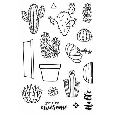Jane's Doodles Clear Stamps - Cactus