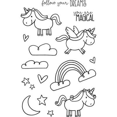 Jane's Doodles Clear Stamps - Unicorn