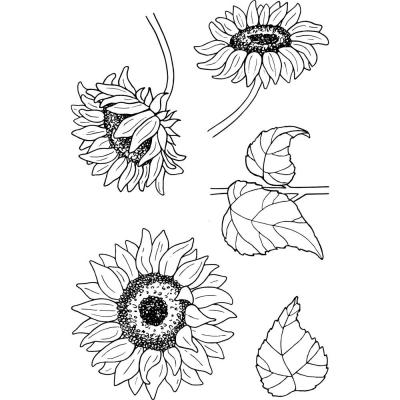 Jane's Doodles Clear Stamps - Sunflowers