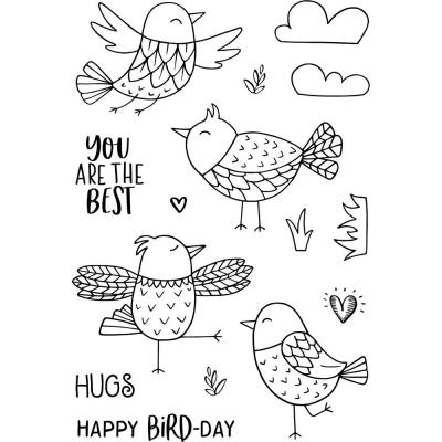 Jane's Doodles Clear Stamps - Free As A Bird