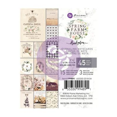 Prima Marketing Journaling Cards - Spring Farmhouse