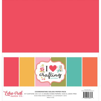Echo Park I Heart Crafting - Solids Kit