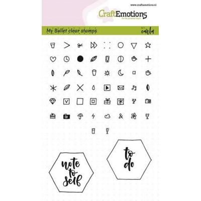 CraftEmotions Clear Stamps - Bullet Journal - Zeichen