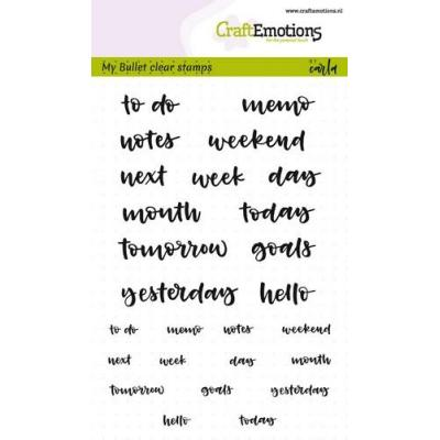 CraftEmotions Clear Stamps - Bullet Journal - Text Agenda