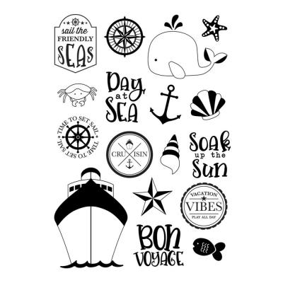 Simple Stories Clear Stamps Cruisin' -  Set Sail