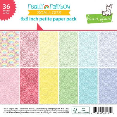 Lawn Fawn Paper Pack - Really Rainbow Scallops
