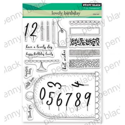 Penny Black Clear Stamps - Lovely Birthday