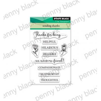 Penny Black Clear Stamps - Sending Thanks