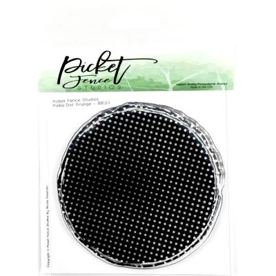 Picket Fence Clear Stamp - Polka Dots Grunge