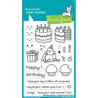 Lawn Fawn Clear Stamps - Birthday Before'n Afters