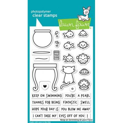 Lawn Fawn Clear Stamps - Keep On Swimming