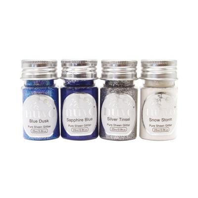 Nuvo - Pure Sheen 4er-Pack - Let it Snow Glitter