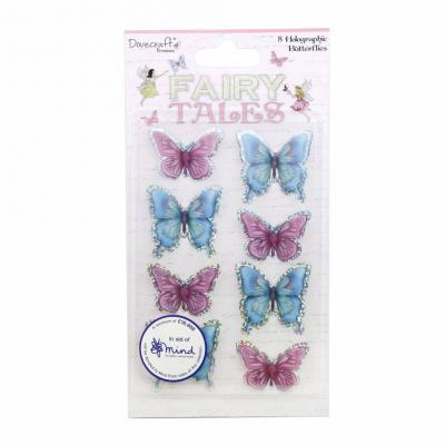 Dovecraft Fairy Tales - Holographic Butterfly Toppers
