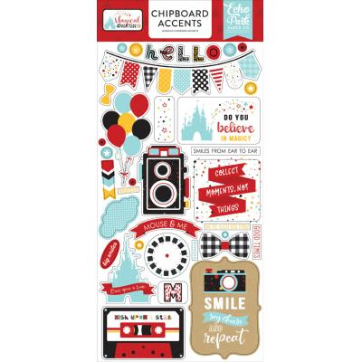 Echo Park Magical Adventure Sticker - Chipboard Accents