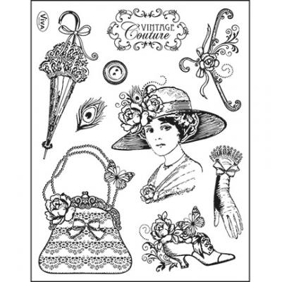 Viva Decor Clear Stamps - Vintage Couture