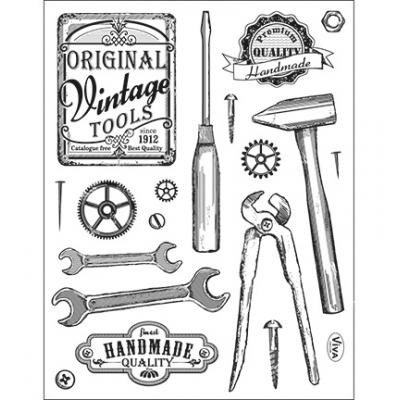 Viva Decor Clear Stamps - Vintage Tools