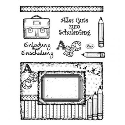Viva Decor Clear Stamps - Einschulung