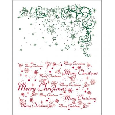 Viva Decor Clear Stamps - Weihnachts Sterne + Merry Christmas