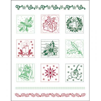 Viva Decor Clear Stamps - Weihnachts Patchwork