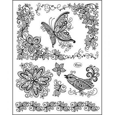 Viva Decor Clear Stamps - Scribble Butterfly