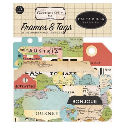 Carta Bella Cartography No.1 - Frames & Tags
