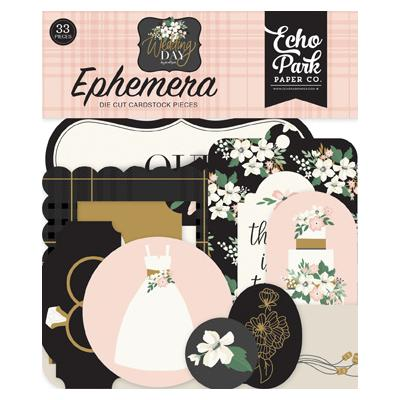 Echo Park Wedding Day Die Cuts - Ephemera