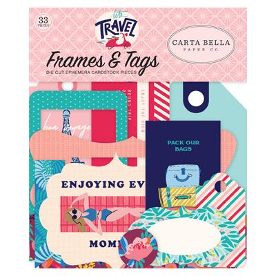 Carta Bella Let's Travel Die Cuts - Frames & Tags