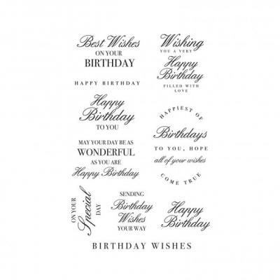 Kaisercraft Clear Stamps - Birthday Wishes