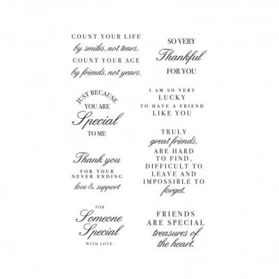 Kaisercraft Clear Stamps - Friendship Sentiments
