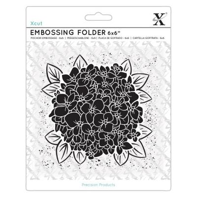Xcut Embossing Folder - Full Bloom Hydrangea