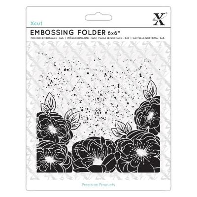 Xcut Embossing Folder - Full Bloom Roses