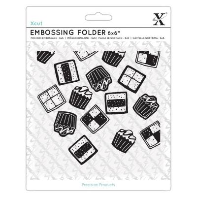 Xcut Embossing Folder - Sweet Treats Mini Cakes