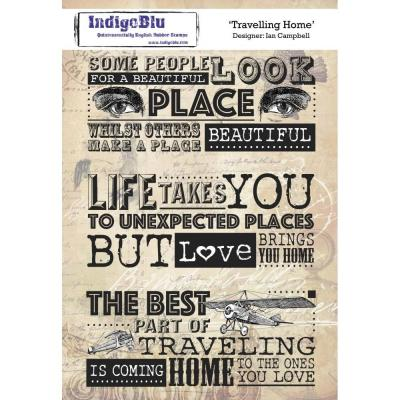 IndigoBlu Rubber Stamp - Travelling Home