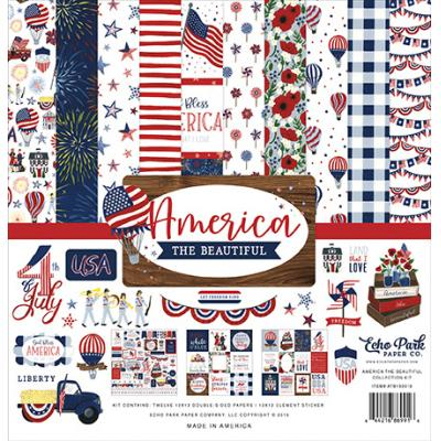 Echo Park America The Beautiful Designpapier - Collection Kit
