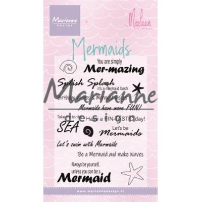 Marianne Design Clear Stamps - Mermaid Sentiments