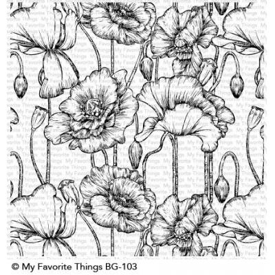 My Favorite Things - Clear Stamps - Poppies Background