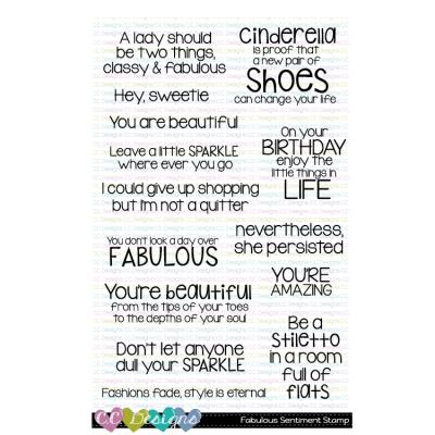 C.C.Designs Clear Stamps - Fabulous