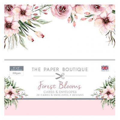 The Paper Boutique  Forest Blooms- Card & Envelope Pack