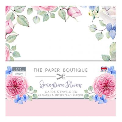 The Paper Boutique Springtime Blooms - Card & Envelope Pack