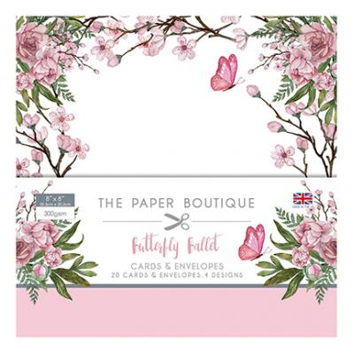 The Paper Boutique  Butterfly Ballet - Card & Envelope Pack