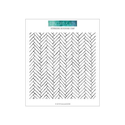 Concord & 9th Clear Stamps 6x6 - Herringbone Background