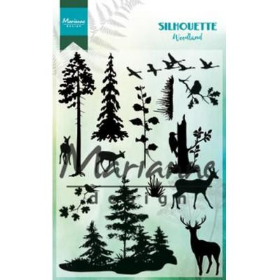 Marianne Design Clear Stamps - Silhouette Woodland