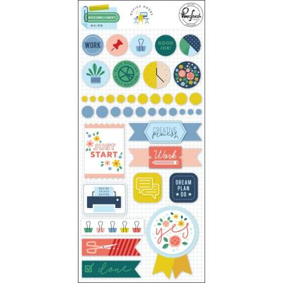 Pinkfresh Studio Office Hours - Mixed Embellishment Pack