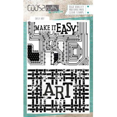 COOSA Crafts Clear Stamp - Easy Art