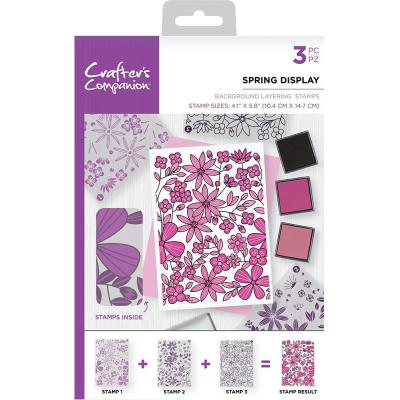 Crafter's Companion Clear Stamps - Spring Display