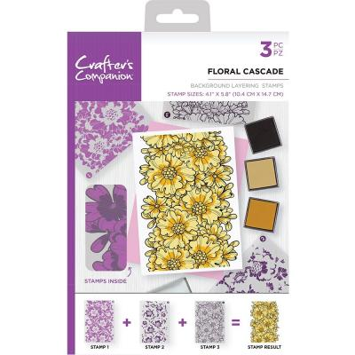 Crafter's Companion Clear Stamps - Floral Cascade