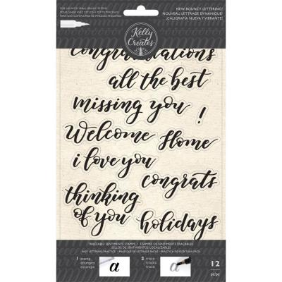 Kelly Creates - Clear Stamps - Bouncy Sentiments
