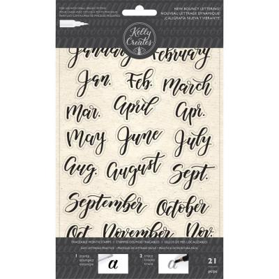 Kelly Creates - Clear Stamps - Bouncy Months